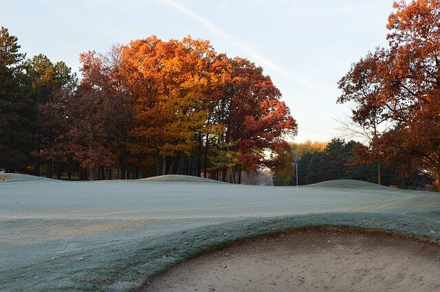 frost on the golf course